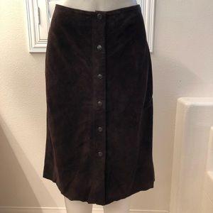 Banana Republic 100% Leather Skirt